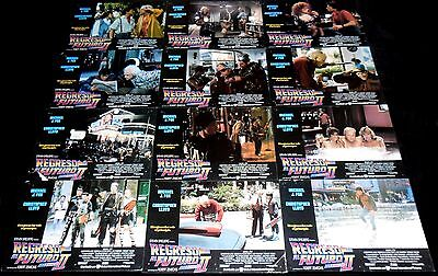1989 Back to the Future Pt II ORIGINAL LOBBY CARD SET Sci-Fi Michael J Fox