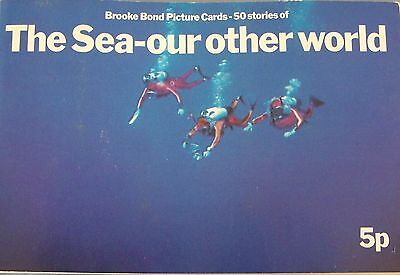 Brooke Bond The Sea- ourother world cards complete set in book