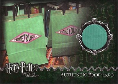 Harry Potter Prisoner of Azkaban Honeydukes Bag Prop Card