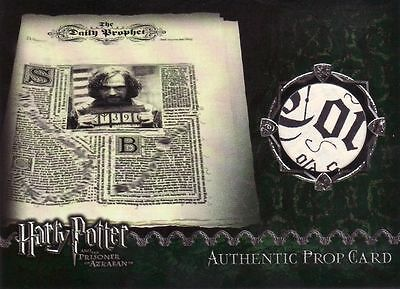 Harry Potter Prisoner of Azkaban Daily Prophet Prop Card