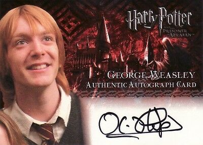 Harry Potter Prisoner of Azkaban Oliver Phelps as George Weasley Auto Card
