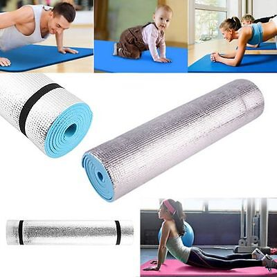 Yoga Mat 6mm Thick Exercise Fitness Physio Pilates Gym Mats Non Slip Carrier