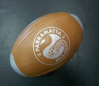 Steeden Parramatta Eels Laced Leather Team Heritage Rugby League NRL Ball *NEW*