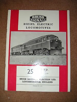 VINTAGE Brush Bagnall Traction Class M1 Type AIA---AIA   catalogue  1953 Ceylon