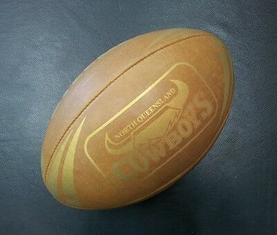 Steeden North Queensland Cowboys Laced Leather Team Heritage Rugby NRL Ball *NEW