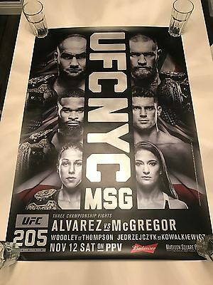 UFC 205 - Official Event Poster - Purchased At Event - McGregor Vs Alvarez