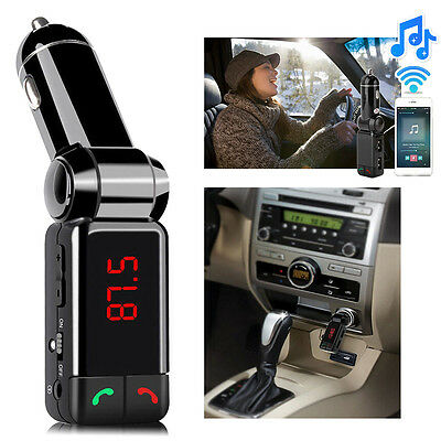 Wireless Bluetooth Car Kit FM Transmitter MP3 USB LCD Handsfree For Mobile Phone