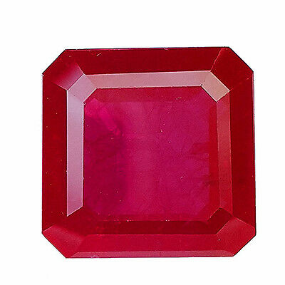 Beautiful 16.85 Ct Square Shape Red Ruby Lab Created Chathum Gem