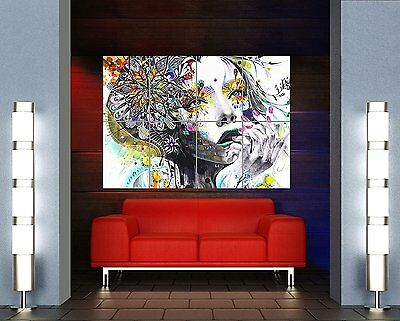 Painting Psychedelic Girl Street New Giant Wall Art Print Picture Poster Oz448