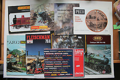 Collection of vintage Model Railway catalogues