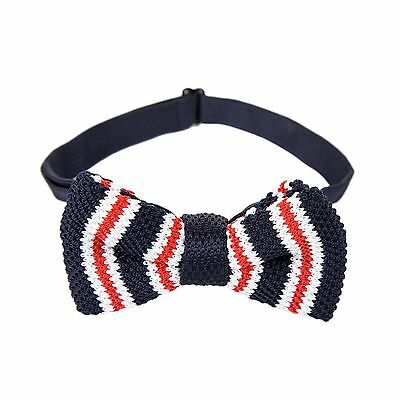 96d6348e3811 Crochet Knitted Pre Tied Pattern Knit 100% Woven Soft Wool Fashion Suit Bow  Tie