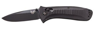 Benchmade 520Bk Pardue Presidio Black Blade Plain Edge Folding Knife.
