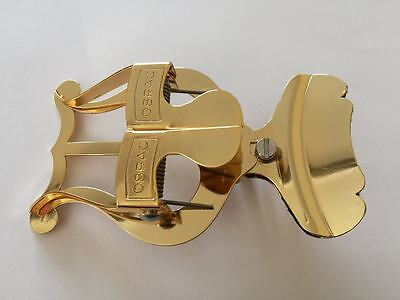 Gold Lacquer Clip On Bell Lyre Music Holder- Fantastic Quality, Made In Spain