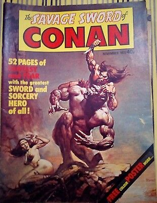 The Savage Sword of Conan Bundle 17 comics Including #1 from 1977!!