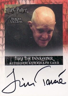 Harry Potter Heroes & Villains Jim Tavare as Tom the Innkeeper Auto Card