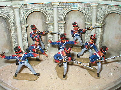 TSSD - set of painted 54mm Alamo Mexican Infantry
