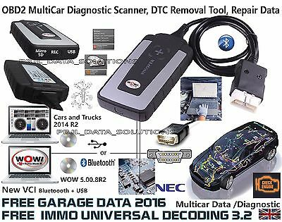 WOW snooper+BT OBD2 diagnostic scanner DS150E EQUIVALENT with4 FREE SOFTWARE2016