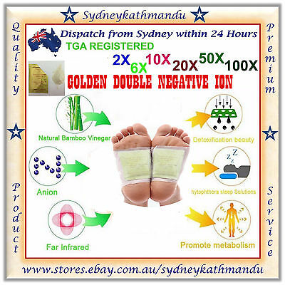 Gold Foot Detox Patch Natural plant Pads Toxin Removal Detoxify Health Care Fit