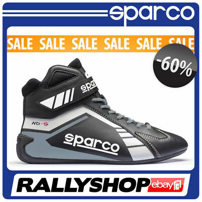 SPARCO SCORPION KB-5 Karting Shoes Race Racing BOOTS Black Grey Rally Race SALE