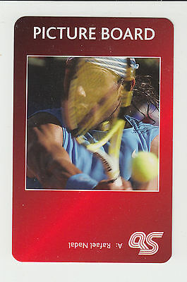 Tennis : Rafael Nadal : UK sports game card - red back