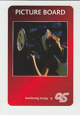 Tennis : Maria Sharapova : UK sports game card - red back