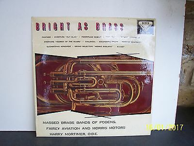 Massed Brass Bands Of Fodens:    Bright As Brass     Skl 4089    Con  Ex