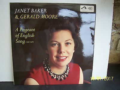 Janet Baker & Gerald Moore:  A Pageant Of English Song   Hqs 1091   Con  Ex