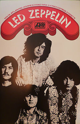 Led Zeppelin poster - Very nice 1st Album 1969 on Ampex tapes Large size reprint