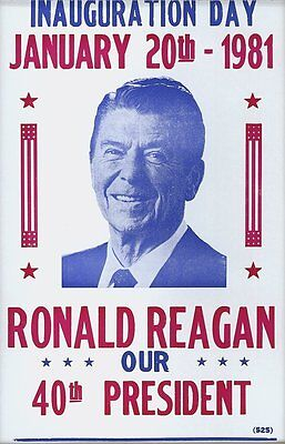 """Ronald Reagan Inauguration 14"""" x 22"""" Vintage Style Poster"""