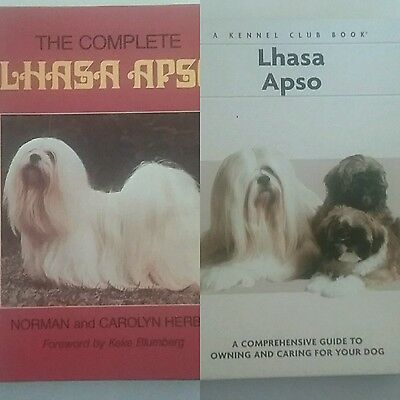 2 Hardcover Books on Lhasa Apso Ownership