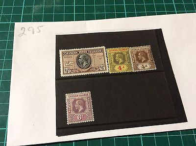 Cayman Islands 4 x George V Unused stamps In very good condition (295)