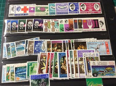 Cayman Islands Large Selection of Used Stamps Many  Elizabeth II