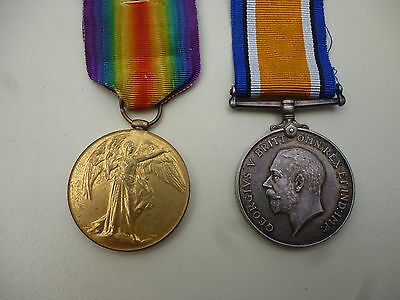Ww1 British War+Victory Medal Pair To 3926 Pte A Milner  Liverpool Reg
