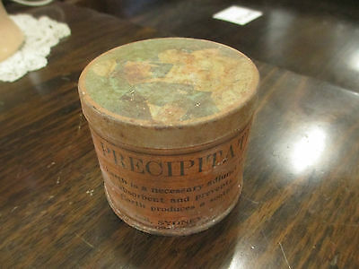 Vintage OLD Pears' Precipitated Fuller's Earth Powder Box Metal TIN Case Sydney