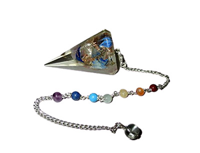 Jet New Thick Orgone Pendulum Free Booklet Jet International crystal Therapy 4