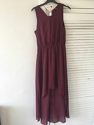 girls new look age 12-13 Burgundy Dress , Wedding, Party Christening