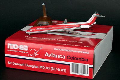 Avianca Colombia MD-83 Reg: EI-CEQ JC Wings 1:200 Diecast Models XX2901