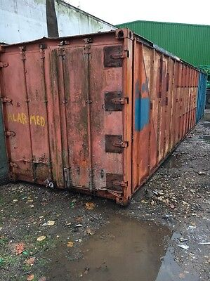 40ft x 8ft Aluminium Shipping Container Fridge Insulated Dry Box Shed