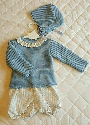 REDUCED Traditional Spanish Dulce de Fresa 3 piece boys outfit with knitted top!