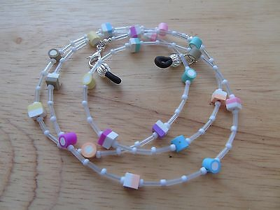 """Handmade """"Candy"""" Beaded Spectacle / Glasses Chain / Necklace."""