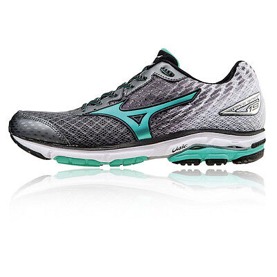 Mizuno Wave Rider 19 Womens Grey Cushioned Running Sports Shoes Trainers