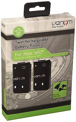 Venom Xbox 360 Controller Rechargeable Battery Twin Pack - VS2894 New & Boxed