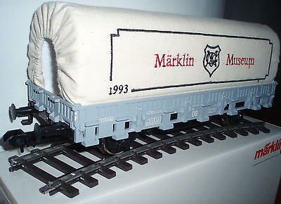 Marklin 1:32 1 Museum 1993 Canvas Covered Flat Car spring buffers NEW MiB 85830