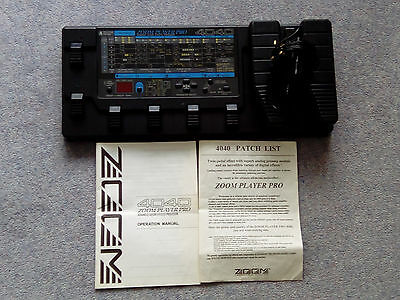 Zoom Player Pro 4040 Guitar multi fx Pedal