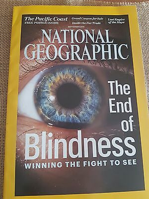 NATIONAL GEOGRAPHIC September 2016. The End of Blindness +FREE POSTER INSIDE.
