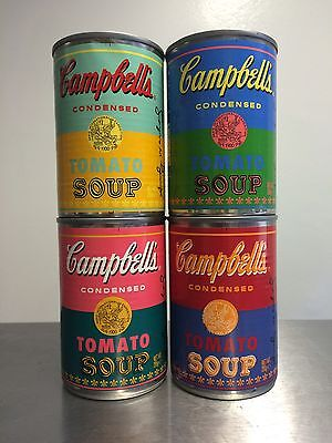 Andy Warhol Limited Edition Campbell's Tomato Soup Set Of Four ,mint Condition !