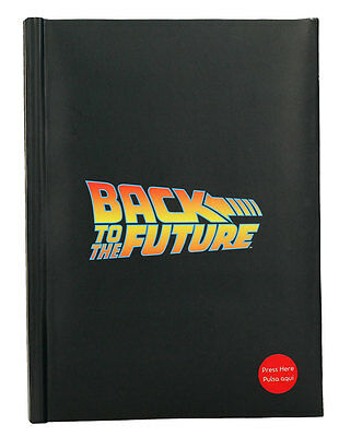 Back to the Future Notebook with Light-Up Logo | Official Merchandise (New)