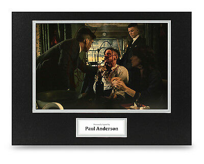 Paul Anderson Signed 16x12 Photo Autograph Peaky Blinders Memorabilia Display