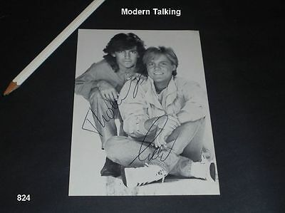 Modern Talking - Autogrammkarte - signed - Autographs - The 1 st album - 1985