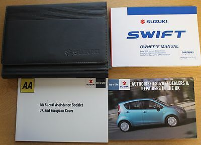 Genuine Suzuki Swift Owners Manual Handbook Wallet 2005-2010 Pack 13461